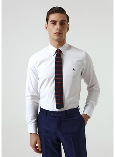 D'S Damat Slim Fit Oxford Gömlek Beyaz
